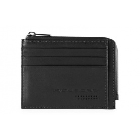 Piquadro Urban Sachet card holder with black zip - PP4822UB00R / N
