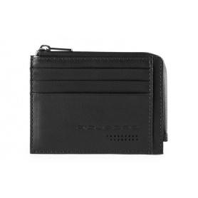 Piquadro Urban Sachet Kartenhalter mit schwarzem Reißverschluss - PP4822UB00R / N