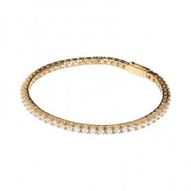 Semi-rigid Tennis Bronzallure Bracelet - WSBZ01240Y