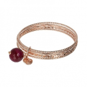 Rigid Bronzallure bracelet with Agate pendant WSBZ01386A