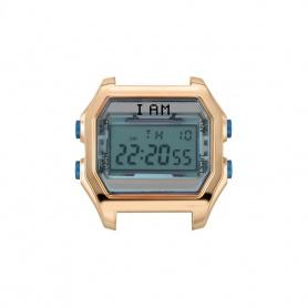 I AM women's blue and pink steel IAM002 digital watch
