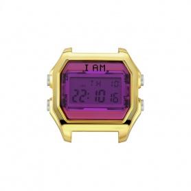 Orologio digitale I AM donna fucsia e acciaio gold IAM005
