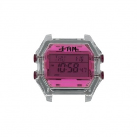 I AM Women's Fuchsia and Transparent Gray IAM009 digital watch