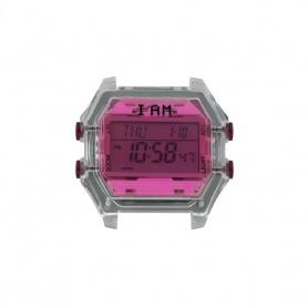 Orologio digitale I AM donna fucsia e grigio trasparente IAM009