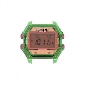 Orologio digitale I AM donna salmone e verde trasparente IAM007