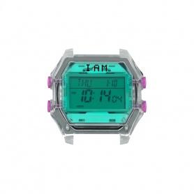Orologio digitale I AM donna turchese e grigio trasparente IAM010
