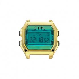Orologio digitale I AM donna verde e acciaio gold IAM006