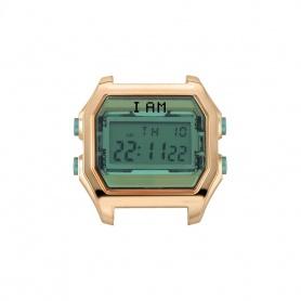 Orologio digitale I AM donna verde e acciaio rosè IAM001