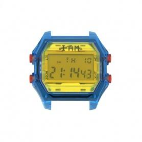 Orologio digitale I AM uomo giallo e blu trasparente IAM106