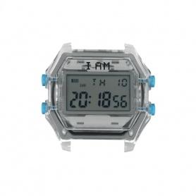 Orologio digitale I AM uomo grigio e grigio trasparente IAM110
