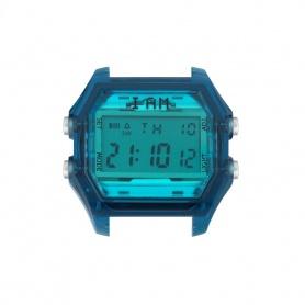 Orologio digitale I AM uomo turchese e blu indaco trasparente IAM107