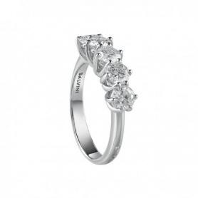 Salvini anello veretta a cinque pietre collezione Lavinia oro e diamanti