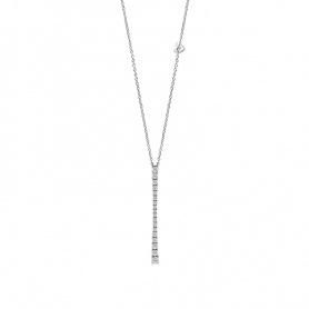 Salvini collana con pendente collezione Battito oro bianco e diamanti
