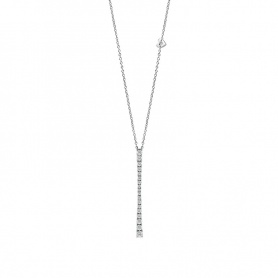 Salvini necklace with pendant collection Battito white gold and diamonds