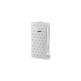 Dupont Feuerzeug Slim7 Linie Silber Silberfarbe mit Diamanten - 027716