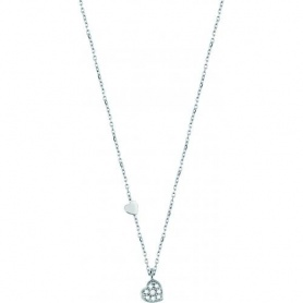 Salvini necklace in white gold and diamonds Be Happy heart - 20055766