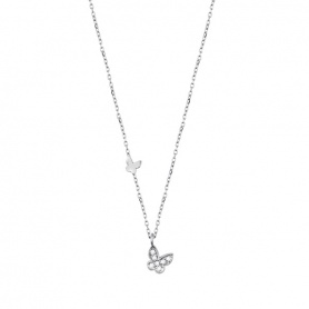Salvini necklace in white gold and diamonds Be Happy Farfalla - 20055765