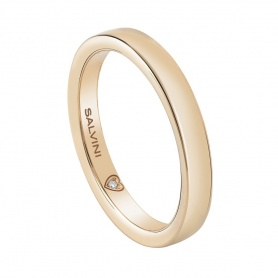 Salvini wedding ring in yellow gold and diamond Battito - 20077720