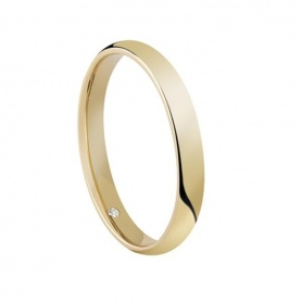 Salvini wedding ring in yellow gold and diamond Special Day - 20062951