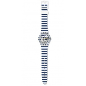 Swatch Unisex-Uhr Just Paul gestreift Marinara GE270