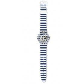 Swatch unisex watch Just Paul striped marinara GE270