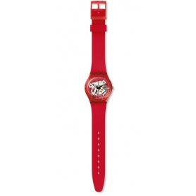 Orologio Swatch unisex Rosso Bianco rosso  misura small - GR178