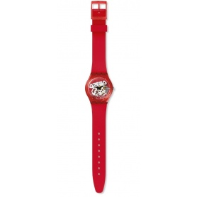 Swatch unisex watch Red White red small size - GR178