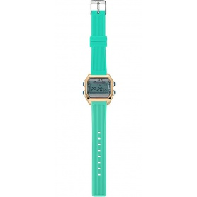 I AM Women's Digital Watch light blue / aquamarine