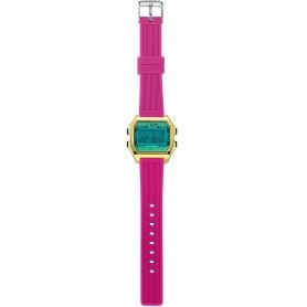I AM Women's Digital Watch light blue / fuchsia