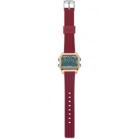 I AM Women's Digital Watch light blue / red