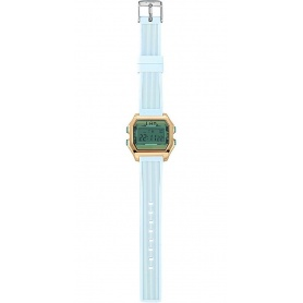 I AM women's digital watch light blue - IAM001202