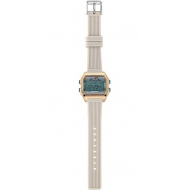I AM women's digital watch light blue / gray - IAM002204