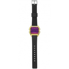 I AM Fuchsia / Black Women's Digital Watch - IAM005206