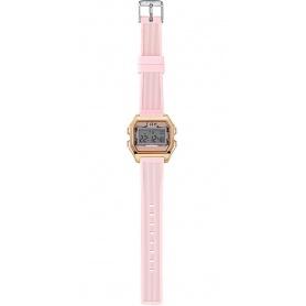 I AM powder pink / pink digital woman watch - IAM003203