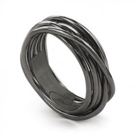 Ring Filodellavita Rock, sieben Stränge aus brüniertem Silber - AN9N