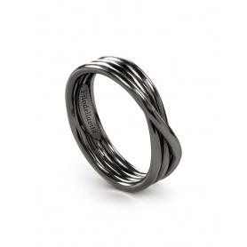 Anello Filodellavita Rock, tre fili in argento brunito - AN8N