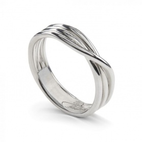 Ring Filodellavita Rock, three silver wires Rhodium - AN8A