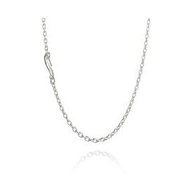Silver chain necklace Filodellavita cm38-45