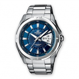 Casio Edifice watch, steel date display - EF-129D-2AVEF