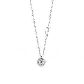 Salvini Poesia necklace with central diamond and contour - 20068984