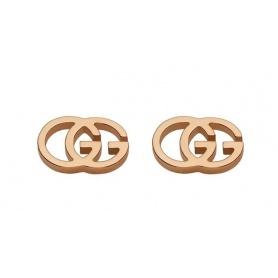 Orecchini Gucci GG Tissue oro rosa - YBD094074003