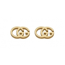 Gucci GG Tissue yellow gold earrings - YBD094074002