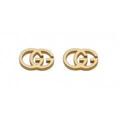 Gucci GG Tissue yellow gold earrings - YBD094074002