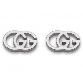 Orecchini Gucci GG Tissue oro bianco - YBD094074001