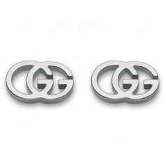 Gucci GG Tissue white gold earrings - YBD094074001