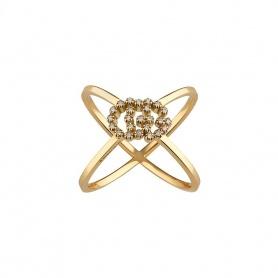 Gucci-Laufring aus Gelbgold mit Diamanten - YBC582548001