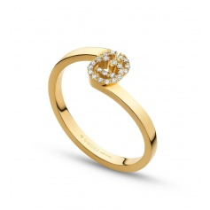 Gucci GG Running ring in yellow gold and diamonds - YBC457127002