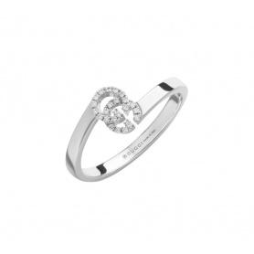 Anello Gucci GG Running oro bianco e diamanti - YBC457127003