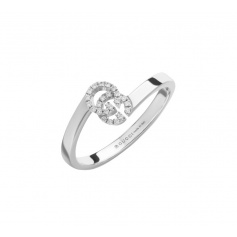 Gucci GG Running ring in white gold and diamonds - YBC457127003