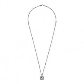 Collana Gucci con cubo G Quadro pendente in argento - YBB552768001